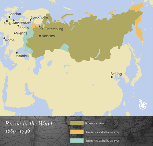 Tsarist Russia Map.Russia Engages The World Nypl